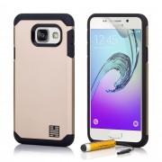 Coque Samsung Galaxy A3 (2016) -Slimarmour- Fine Et Antichoc Par 32nd®, Film Protecteur Et Stylet Inclus - Or
