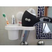 Asciugacapelli Professionale 1800 Watt con Porta Asciugacapelli dentifricio spazzolino pettine a due anelli
