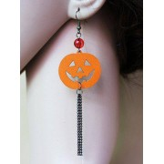 rosegal Pair of Halloween Pumpkin Tassel Earrings