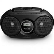 CD Audio System, Philips AZ215B, 2x1W RMS, FM/MW, Black