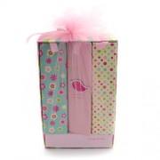 Set 3 albume galben cu roz model carte invelite cu plasa