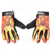 ROSWHEEL Full Finger Sport Riding Gloves - Black + Orange (Size XL)