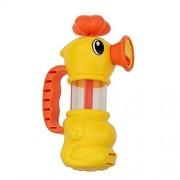 Cute Duck Kids Pump Pumping Spray Water Bath Shower Pool Play Toy