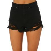 A.brand A High Relaxed Womens Denim Short Black