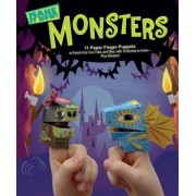Monsters (Make It Now! Series): 11 Paper Finger Puppets to Punch Out, Cut, Fold, and Glue, with 10 Scenes to Color Plus Stickers!