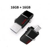 SanDisk SDDD2-016G-G46 16 GB Pen Drive(Black)