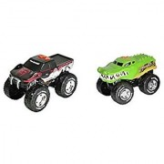 Road Rippers Snake Bite and Crocodile Wheelie Motorized Forward-Driving Wheelie-Poppin Monster Truck With Realistic Monster Truck Motor Sounds 2 Pack