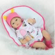 Nouveau Design 50 Cm Silicone Reborn Bébé Poupées Boneca Reborn Realista Mode Poupées Pour Les Enfants De Princesse D'anniversaire Cadeau Bebes Reborn