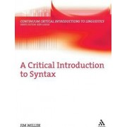 A Critical Introduction to Syntax by Jim Miller