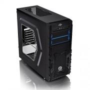 Thermaltake Versa 23, 3 porte USB, Midi Mesh-Case torre ODD con finestra laterale, alloggiamenti blu