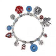 Souza for Kids - 2504 - Gioielli e Cosmesi - Bracciale Collinare - In Aqua Pearls e Rosso