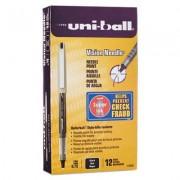 Vision Needle Roller Ball Stick Liquid Pen, Black Ink, Fine, Dozen