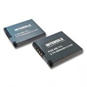 INTENSILO 2x Li-Ion Batterie 600mAh (3.7V) pour cam?ra Canon PowerShot A2300, A2400, A2400 IS, A2500, A2600, A3200, A3300 comme NB-11L.
