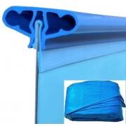 Medence pótfólia ovál 8 x 4 x 1,5m / 0,6mm akasztóprofilos