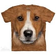 Batikované tričko 3D - Jack russel terrier