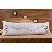 Almofada ou Travesseiro para Corpo Especial para o Dia dos Namorados - Assoprando Corações