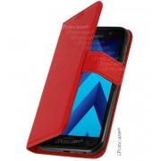 Coque Etui Housse Portefeuille Samsung Galaxy A3 2017 - Rouge -Contour Incassable