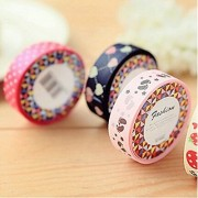 KitMax (TM) Pack of 6 Pcs Colorful DIY Stationery Making Sticker Fabric Tapes Gift for Students Children Color May Vary