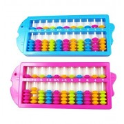 Happy Will Colorful Beads Chinese Plastic Soroban Abacus Arithmetic Calculating Tool Toys for Kids w