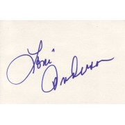 Loni Anderson Autographed Index Card