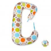 BabyNeeds Soft Plus - Perna 3 in 1 pentru gravide si bebelusi Cerculete colorate