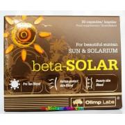 Beta-Solar 30 db kapszula, bőr-, nap-, szemvédelem vitaminokkal, napozáshoz és szoláriumozáshoz is, önbarnító - Olimp Labs