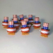 Case Of 12 Wind Up Chatter Teeth W Uncle Sam Top Hat
