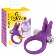 SMILE Rabbit - vibrációs péniszgyűrű (lila)