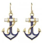 rosegal Pair of Retro Anchor Drop Earrings