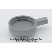Lego Parts: Minifig Utensil Frying Pan (Pearl Light Gray)