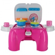 Comdaq Kitchen Pink Stool Playset