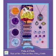 Djeco Zestaw do tworzenia biżuterii - Perły i gwiazdki