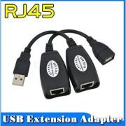 USB RJ45 Male And Female Cat 5e 6e USB Extension Adapter USB Cable RJ45 Lan Cable UPTO 150 FT LENGTH