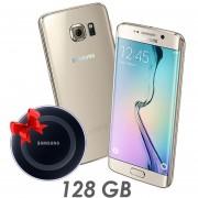 Celular Samsung Galaxy S6 Edge 128gb Gold + cargador Wireles re acondicionado