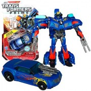 Hasbro Year 2011 Transformers Robots in Disguise Prime Series 1 Deluxe Class 6 Inch Tall Robot Action Figure #9 - Autobot HOT SHOT with 2 Snap-On Blasters (Vehicle Mode: Sports Car)