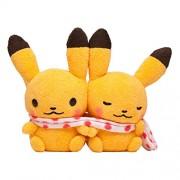Pokemon Center Pair Pikachu Plush Doll Pokemon little tales muffler