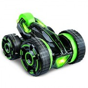 SZJJX Five Wheels Race Stunt Car 2WD Remote Control RC Vehicle with LED Headlights Extreme High Speed 360 Degree Rolling Rotating Rotation Green