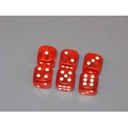 Dobókocka - matt piros (5db)