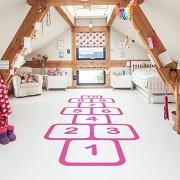 SWORNA Baby Nursery Series Mural Stickers for Children's Hopscotch Game Kids Nursery Removable Custom Vinyl Wall Art Decor Floor Decals Wall Stickers Decal DIY Wall Art Decoration for Children's/Kids' Bedroom/kindergarten/Classroom/Living Room/School/Play