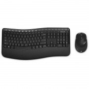 Kit tastatura si mouse Microsoft Wireless Comfort Desktop Black