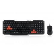 Kit Tastatura + Mouse LOGIC; model: LKM-201; layout: US; NEGRU; USB;