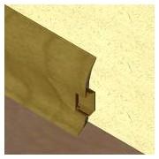 PBC605 - Plinta LINECO din PVC culoare nuc inchis pentru parchet - 60 mm