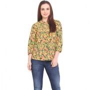 La Stella Women Yellow Cotton Casual Top (L16143-YELLOW)