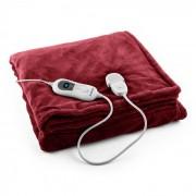 Dr. Watson XL електрическо одеяло 120W, приятна, 180x130cm, плюш, бордо цвят Червен | XL