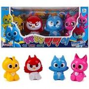 New Korean animated tv Series MINI FORCE Soft Toy 4Pcs - Animal Superhero Action Animation Comedy
