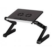 GBL® Support Ordinateur Portable Table de Lit Pliable pour Ordinateur Portable avec plateau de USB Ventilation Refroidissement (Black)