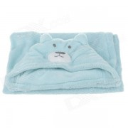 Cute Bear Style Ultra-Soft Baby Blanket - Blue