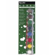 Hobby-Allesverf acryl acht basiskleuren