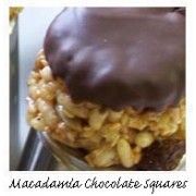 Macadamia Choc Squares 120g tub [7 pcs] / Gluten Free