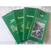 Lot De 4 Anciens Guides Vert Touristiques Michelin